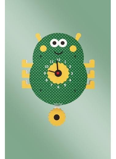Peoples Clock Sevimli Böcek Sallanan Sarkaçlı Çocuk Odası Duvar Saati Renkli